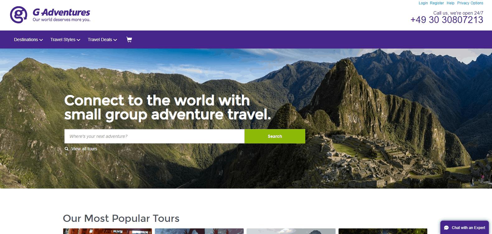g adventures affiliate program