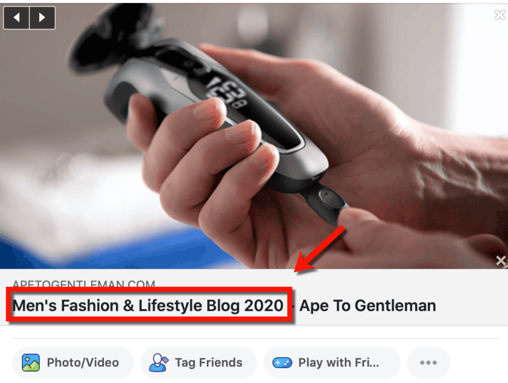 Ape to Gentleman Facebook Tagline