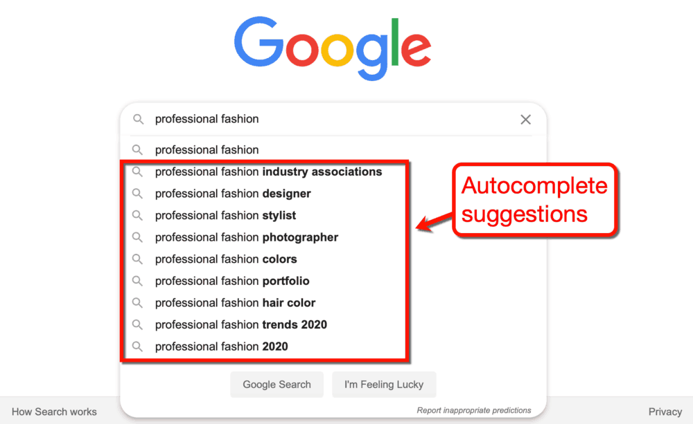 Google Autocomplete Suggestions