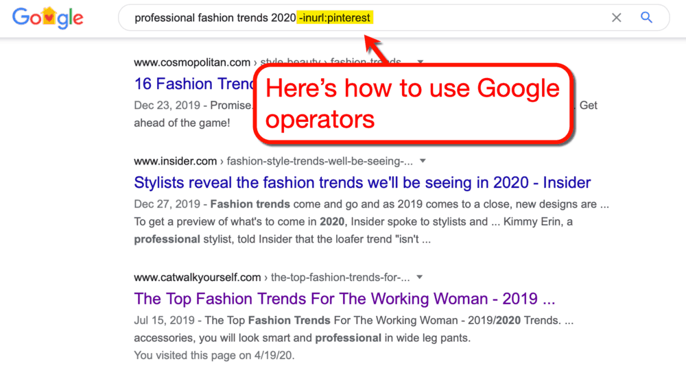 How to Use Google Minus Search Operator