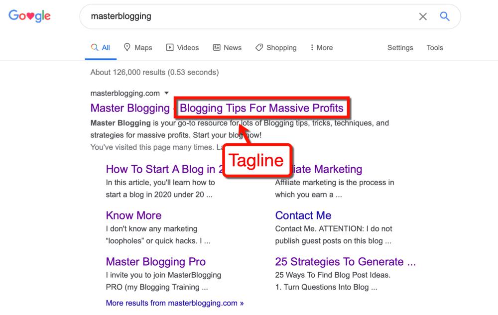 Master Blogging Tagline