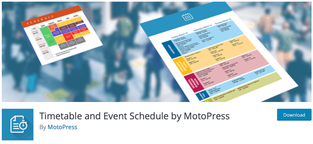Timetable and Event Schedule