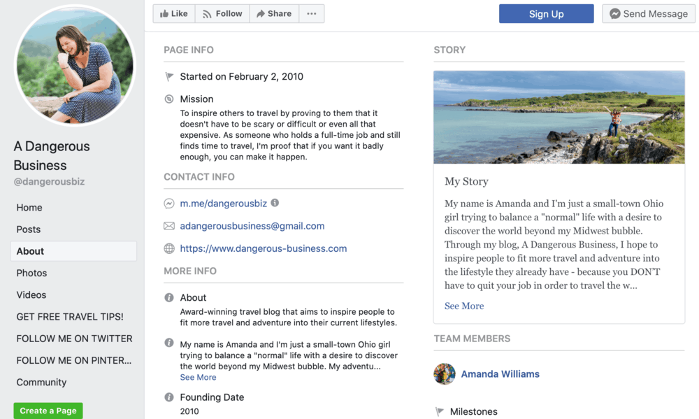 Facebook A Dangerous Business Travel Blog Page