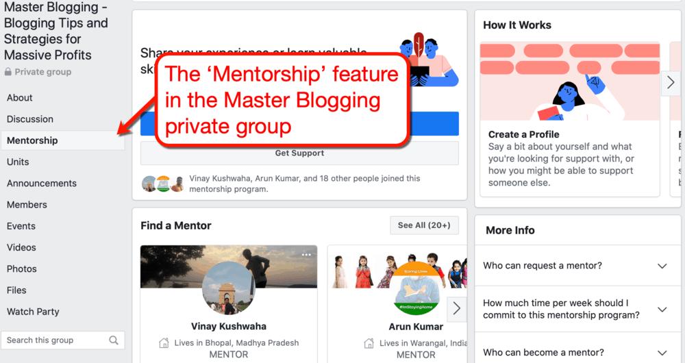 Facebook Master Blogging Mentorship