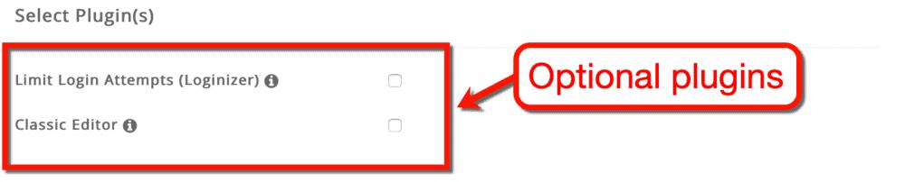 SiteGround WordPress Optional Plugins