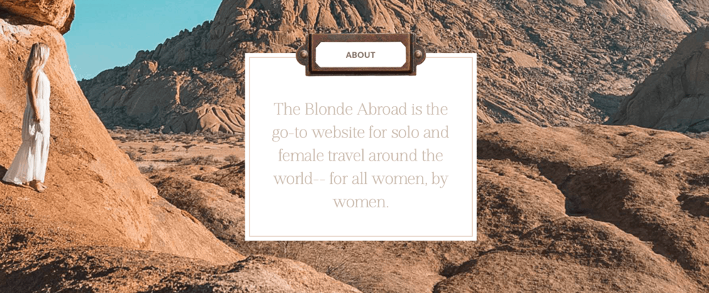 The Blonde Abroad Mission Statement