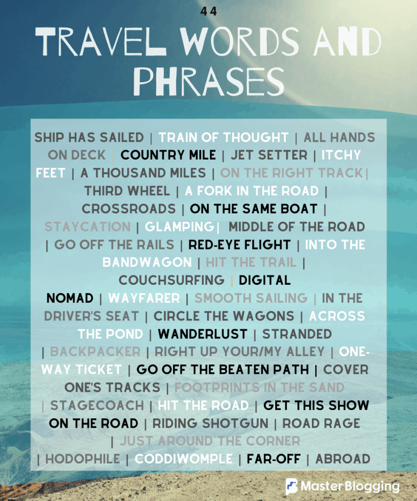 Travel Words and Phrases