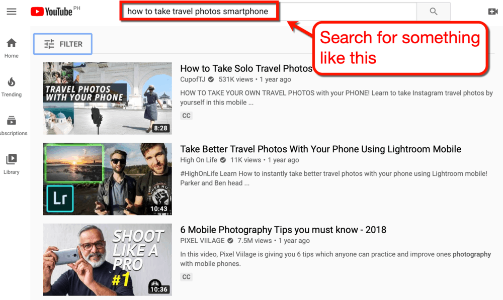 YouTube How to Take Travel Photos with a Smartphone