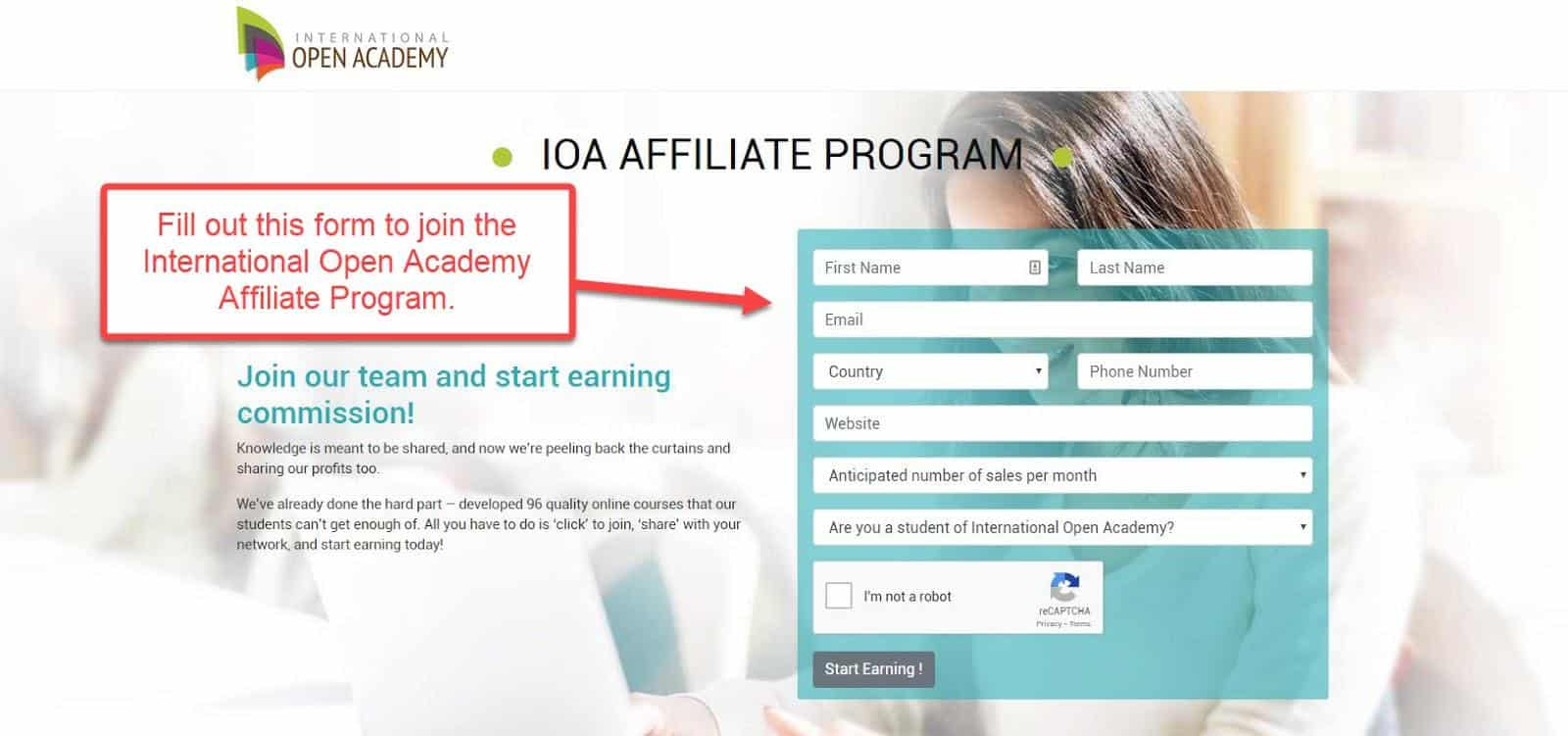 international open academy affiliate program