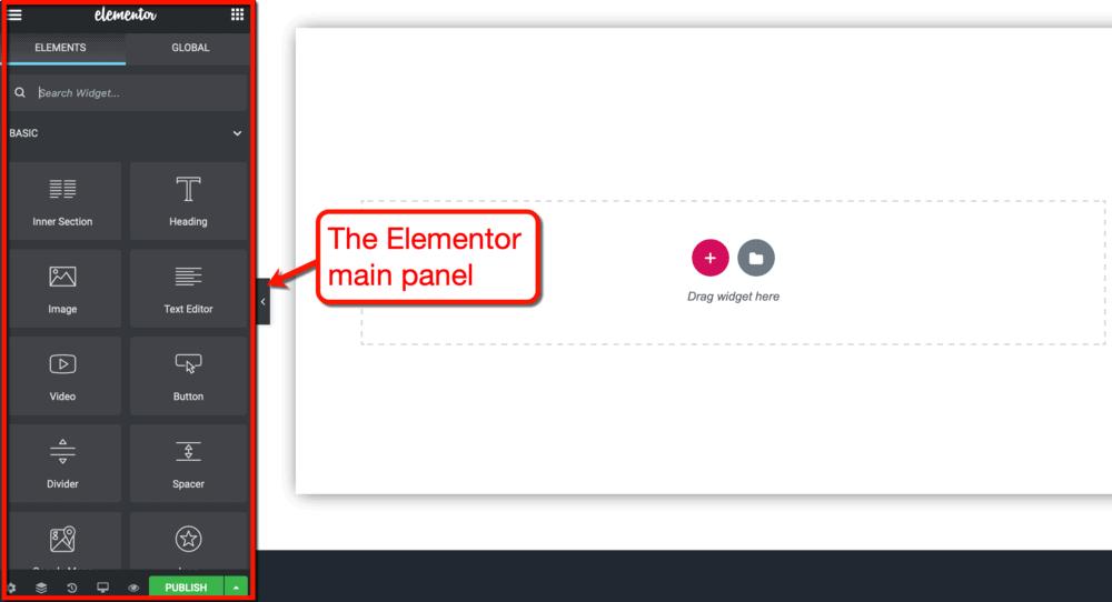 Elementor Main Panel