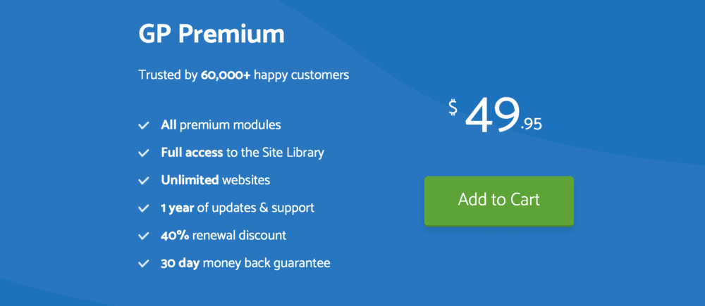GeneratePress Premium Pricing