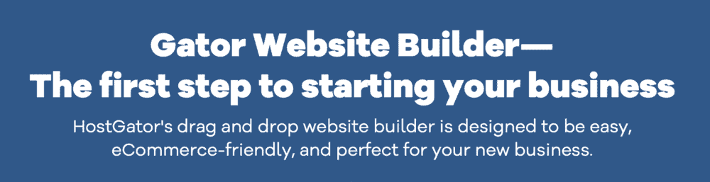 HostGator Website Builder Hosting