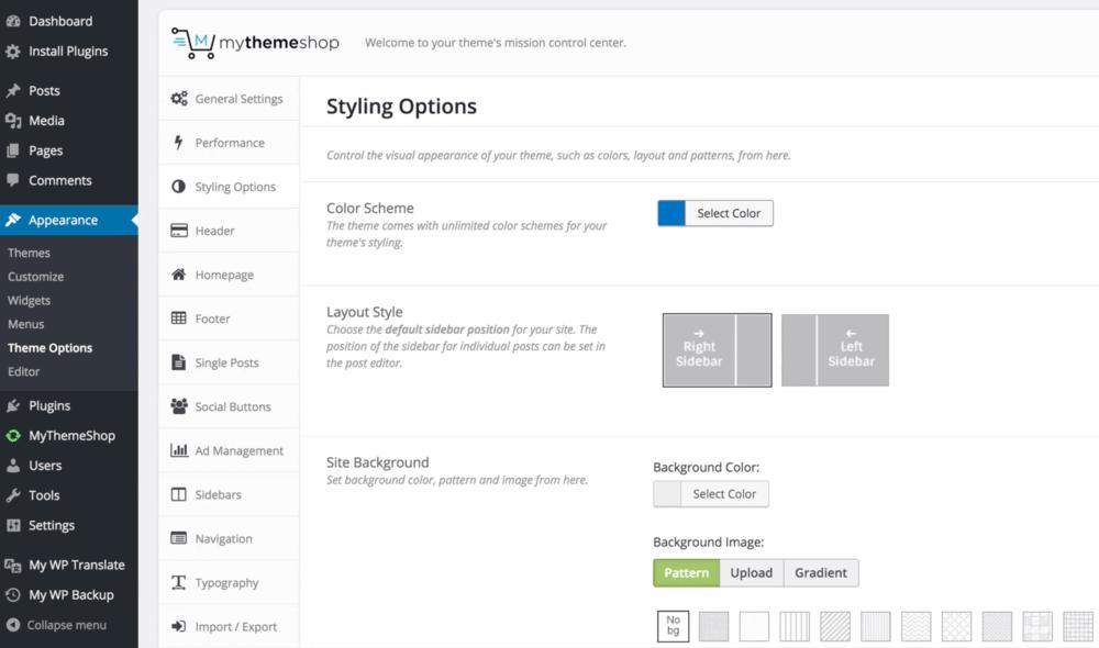 Schema styling options