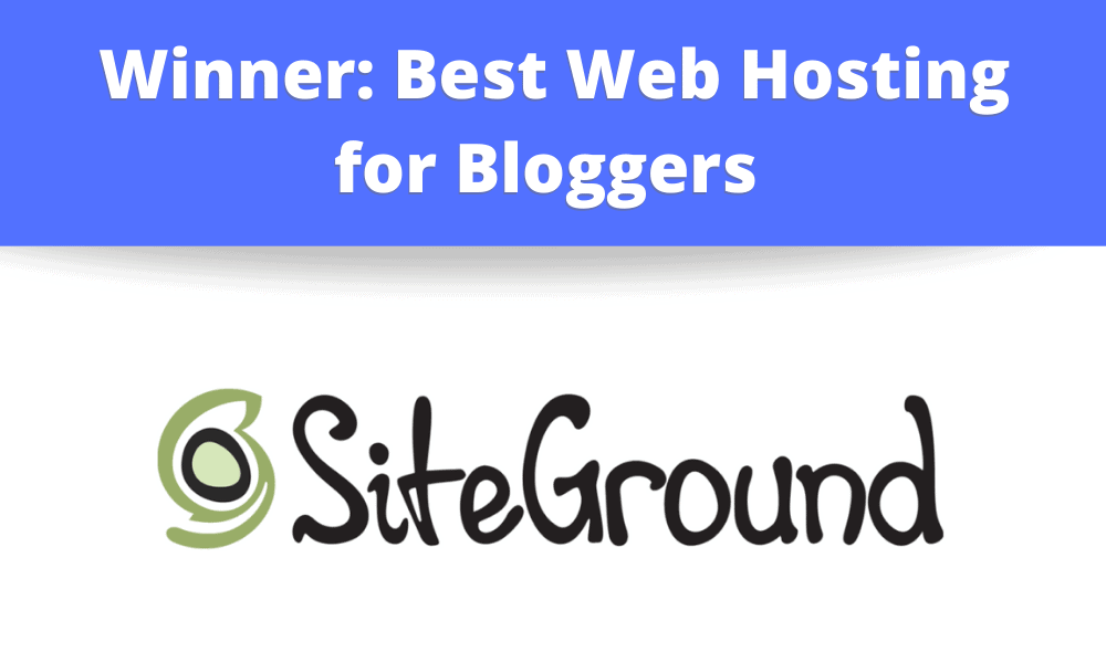 Winner: Best Web Hosting Company for Bloggers