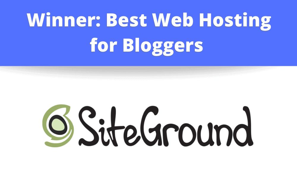 Winner: Best Web Hosting Company for Bloggers