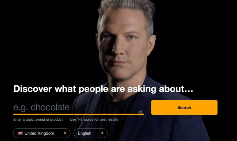 AnswerThePublic Start Page