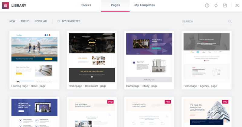 Elementor Site Templates