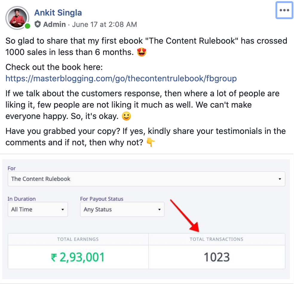 Facebook Master Blogging milestone