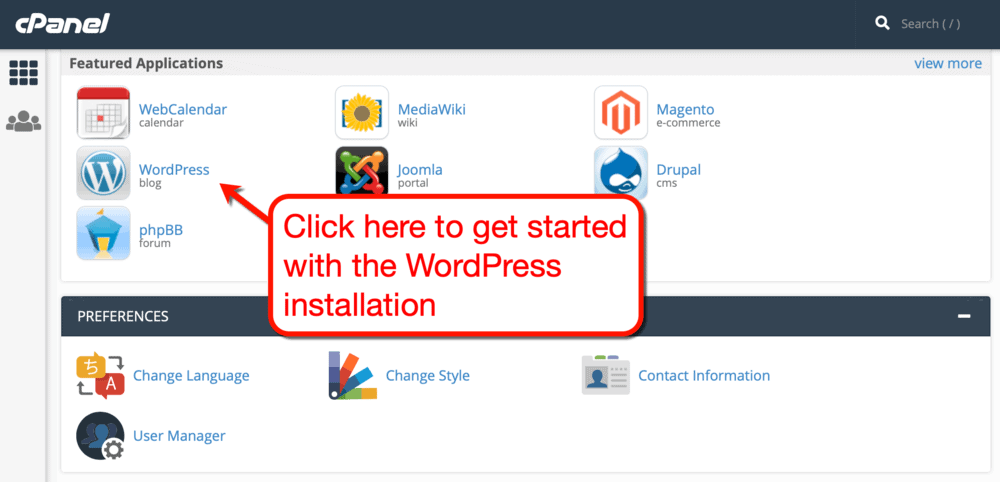 WordPress auto-installer