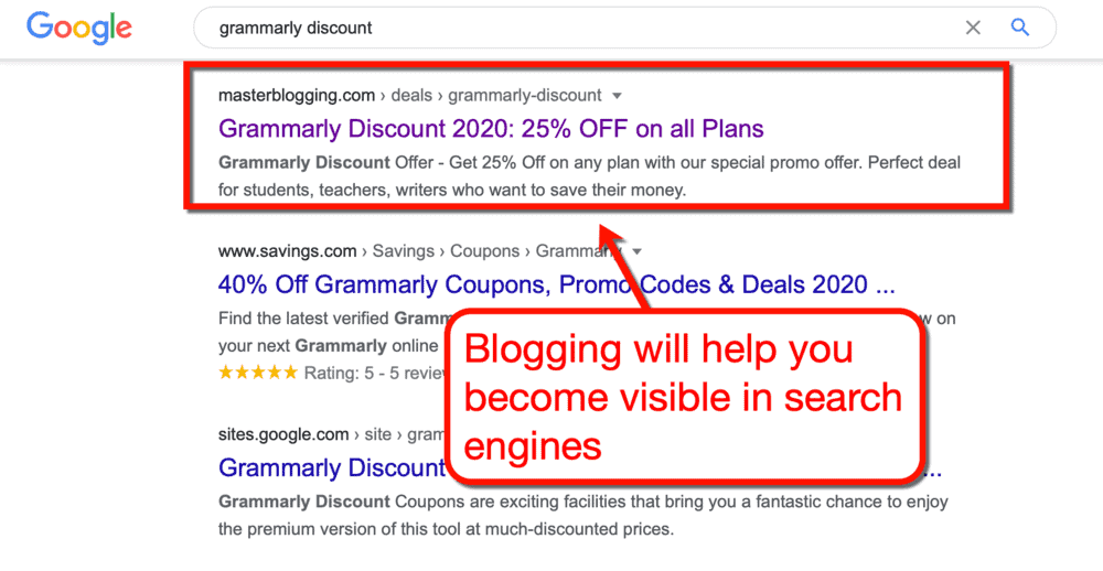 Master Blogging on Google's page one