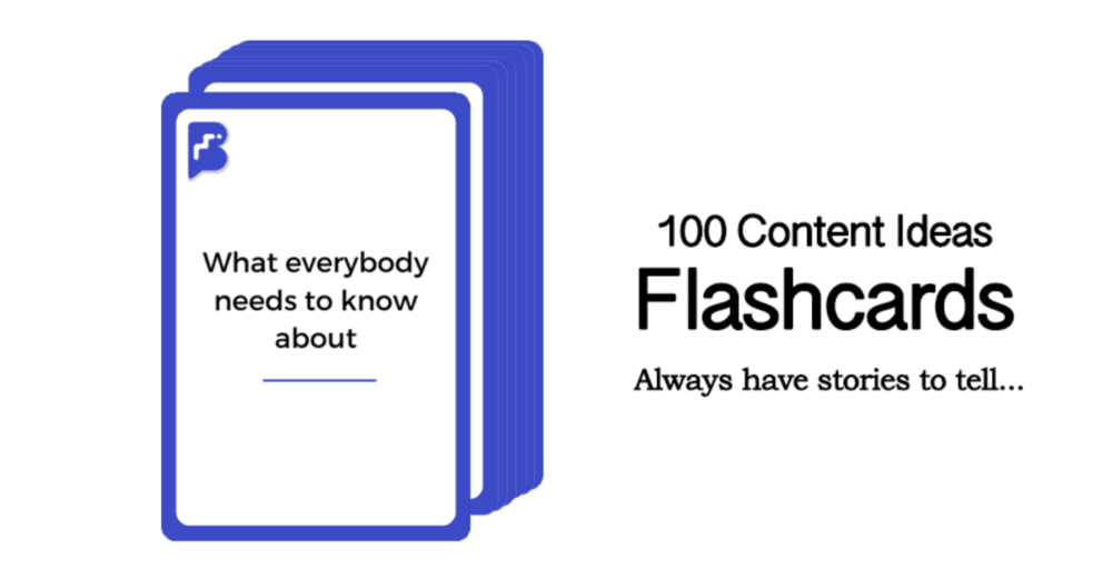 Master Blogging Content Ideas Flash Cards
