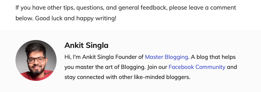 Master Blogging Footnote