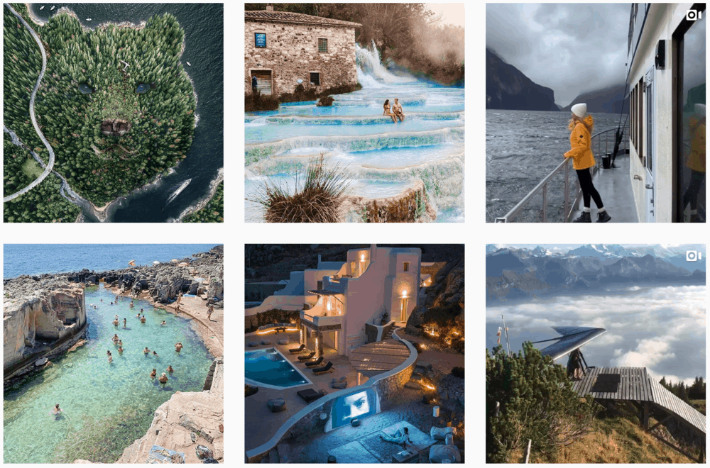 Travel Escapes Instagram Posts