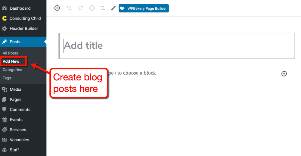 WordPress Add New Posts