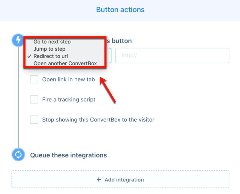 Button Actions Options
