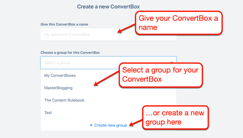 Creating a New ConvertBox
