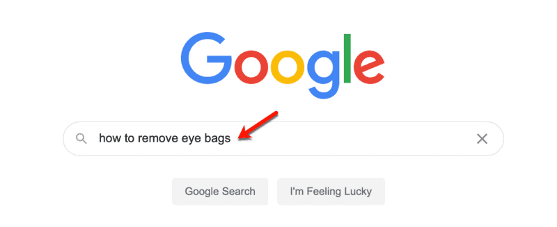 Google How to Remove Eye Bags