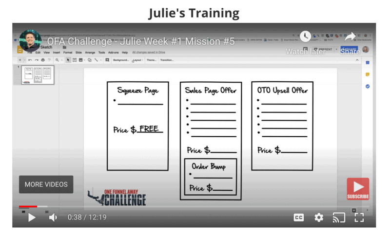 Training Mission from Julie