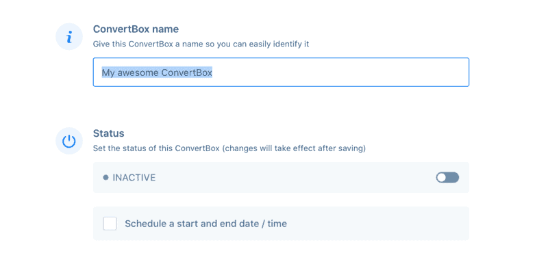 ConvertBox Launch Settings