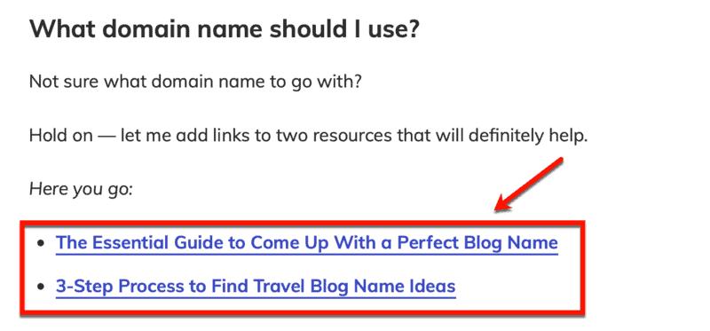 Master Blogging Internal Links