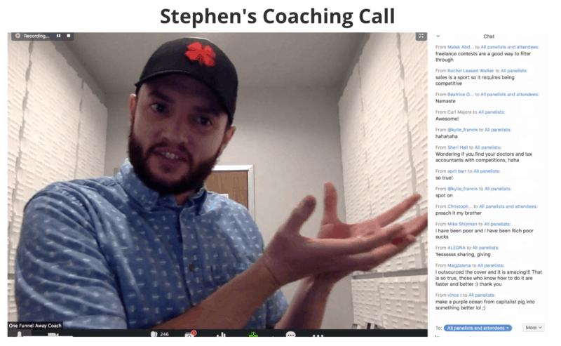 Stephen's Coaching Call