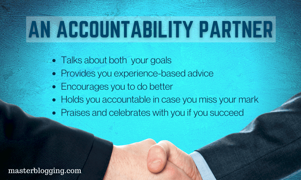 What an accountability partner does