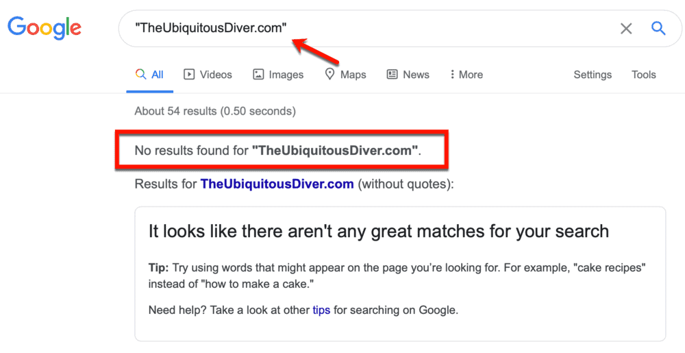 Search results for TheUbiquitousDiver.com