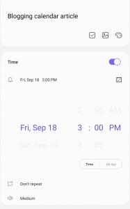 samsung reminder app