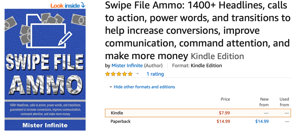 Swipe File Ammon on Amazon