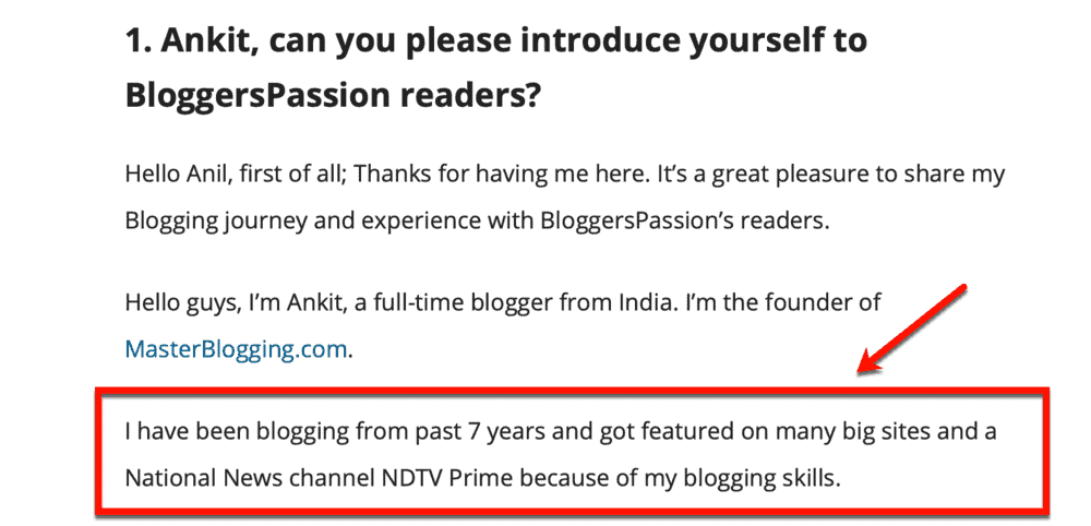 BloggersPassion Interview Introduction