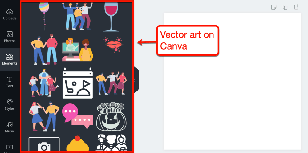 Vectors in Canva