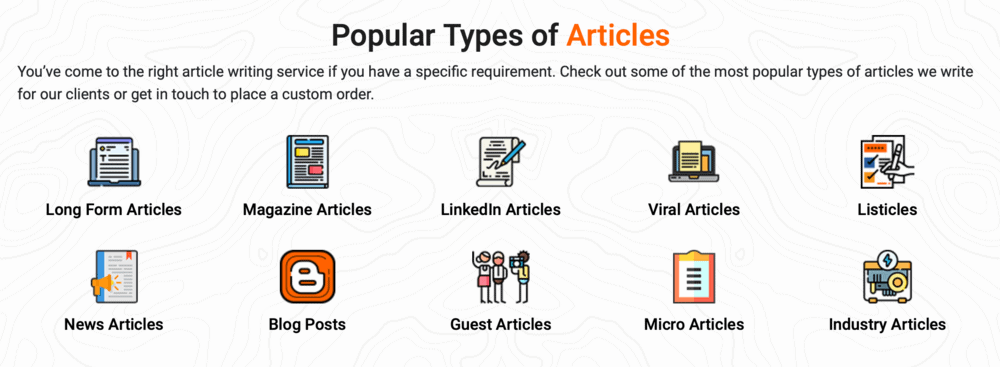 Content Development Pros Types of Articles