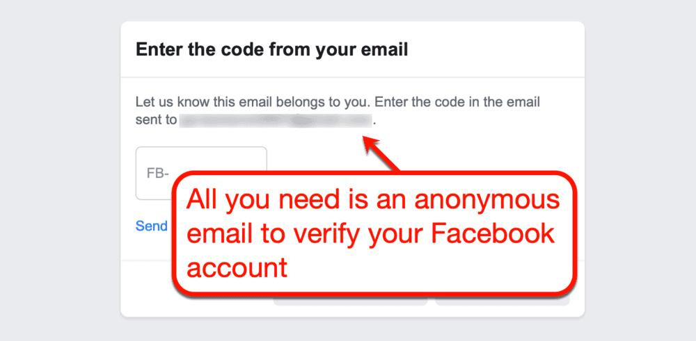 Facebook Account Verification