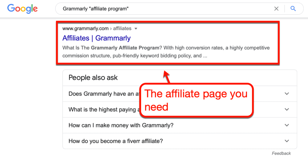 Grammarly affiliates page