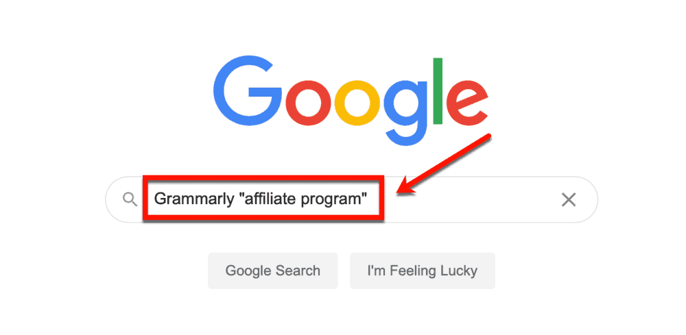 Googling Grammarly affiliate program