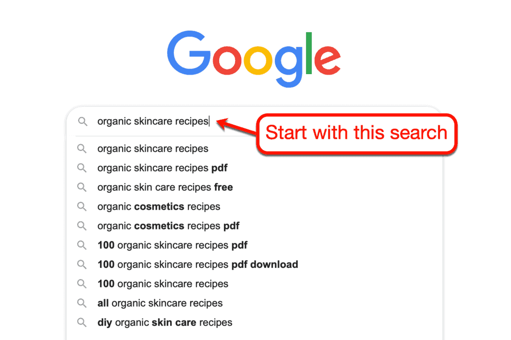 Starting Google Search