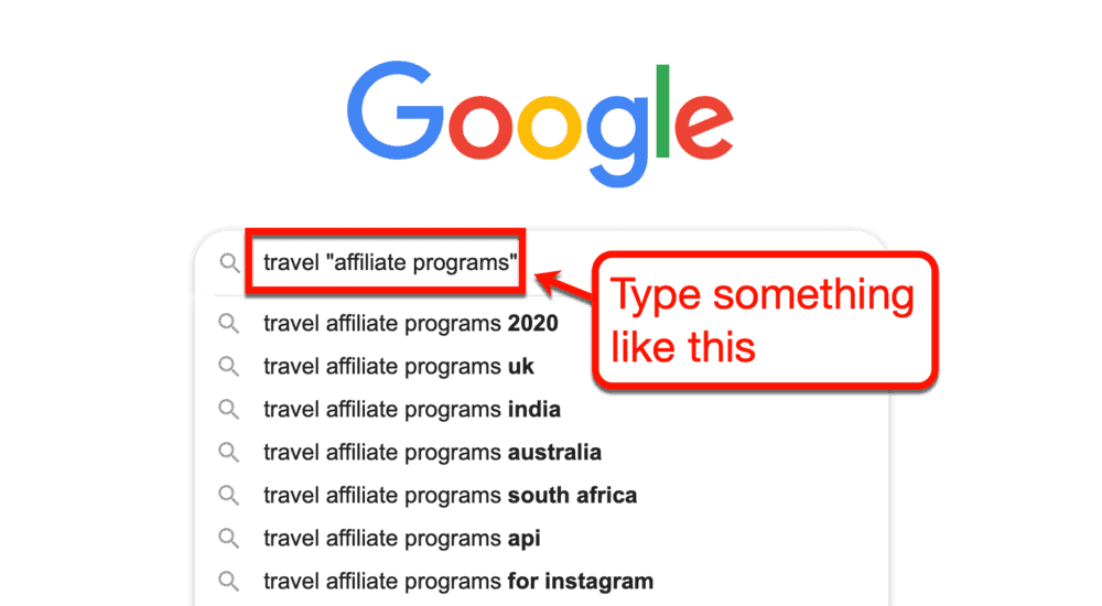 Google affiliate programs search