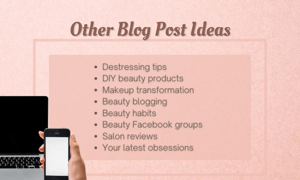 Miscellaneous Blog Post Ideas