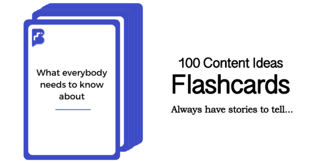 The Content Ideas Flashcards