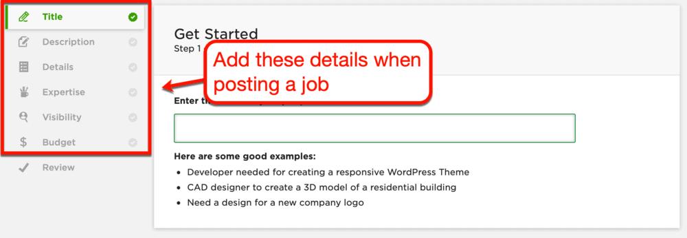 Upwork post a job